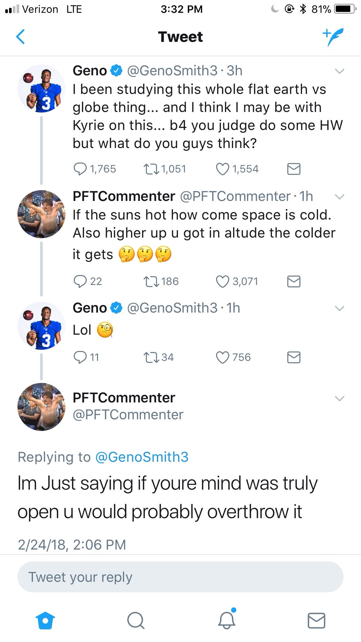 This dude, @PFTCommenter's brain is elite ������ https://t.co/IhX9DJ8Dki