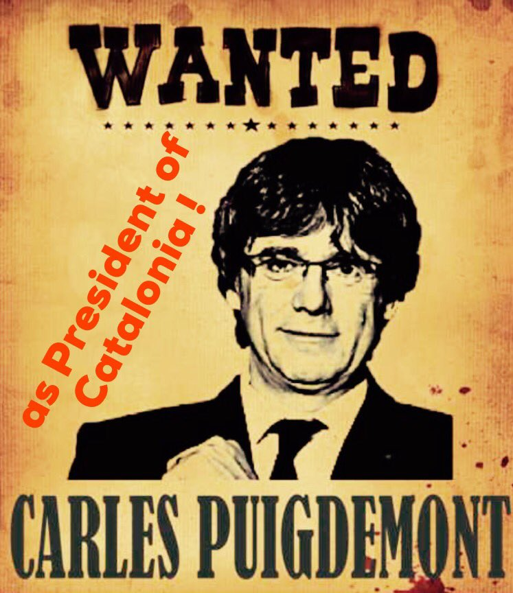 Wanted! Carles Puigdemont! https://t.co/2YKA1gxXZa
