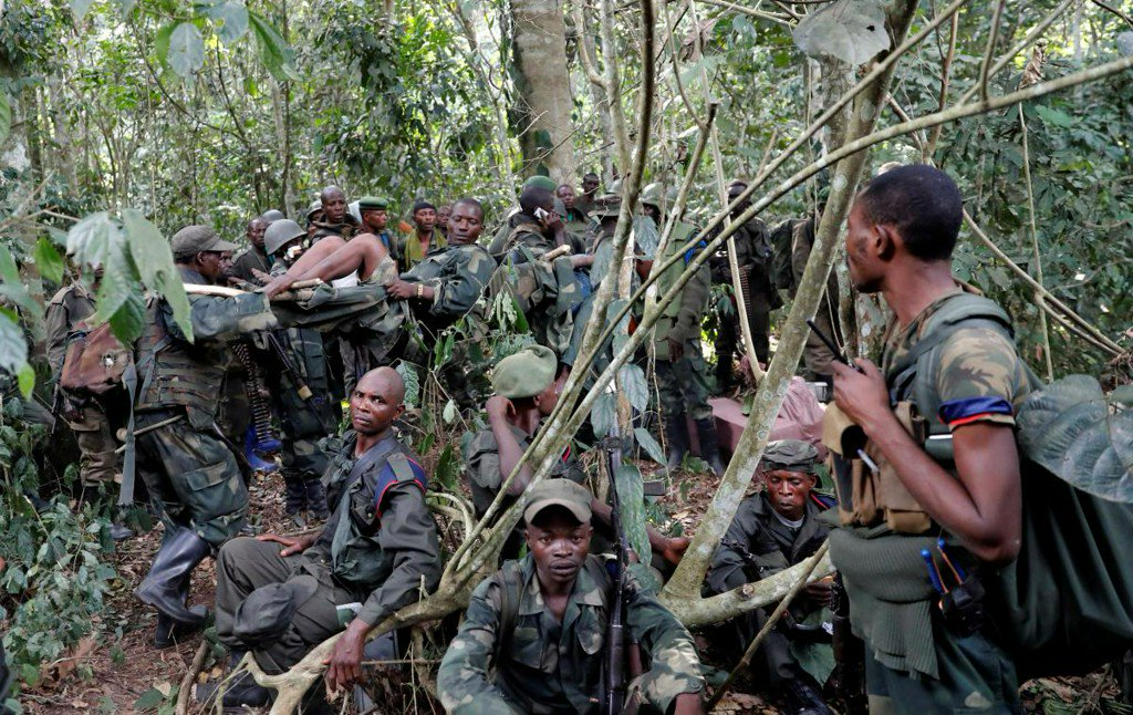 Charred bodies, wounded soldiers after Congo army victory