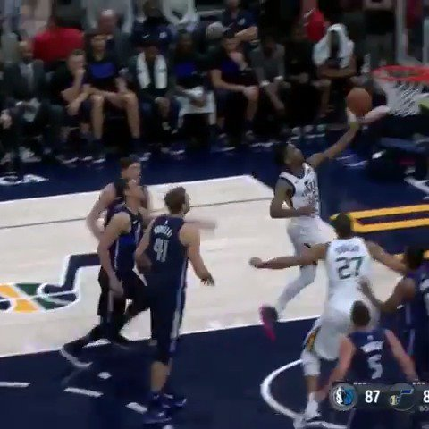 Donovan Mitchell goes for 25 PTS, 6 REB, 5 AST in the @utahjazz win!  #TakeNote https://t.co/vafCCuVjSc