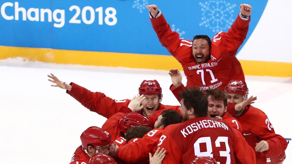 Russians top Germany in overtime for hockey gold