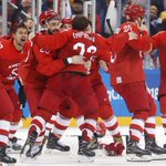 Ice Hockey: Russians sing banned anthem after beating Germany to win gold