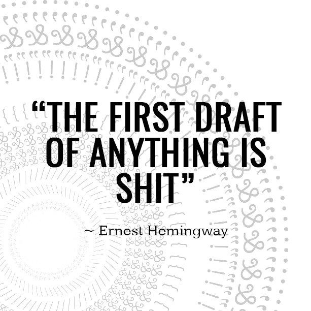 Write drunk. Edit sober. Then edit again. Then again. Then again. Got it? #CopywritingTip https://t.co/751e7GjTmI