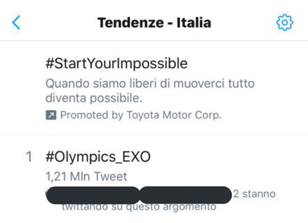 #Olympics_EXO is trending #1 in Italy! ������������  #Olympics_EXO #ClosingCeremony    @weareoneEXO https://t.co/rqmGIfWucE