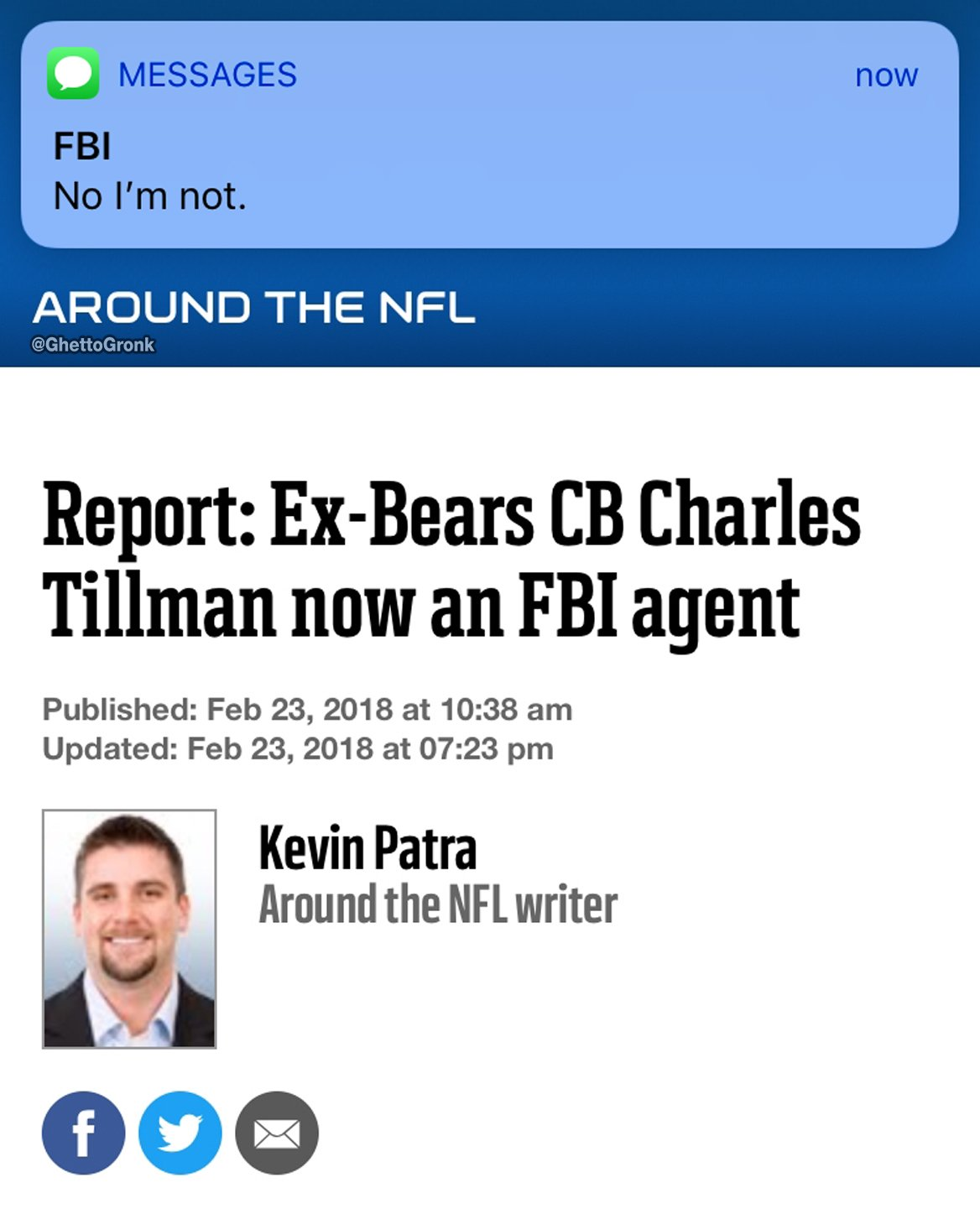 Now he can investigate why the Bears can never beat the Packers https://t.co/7tfuJWxlzA