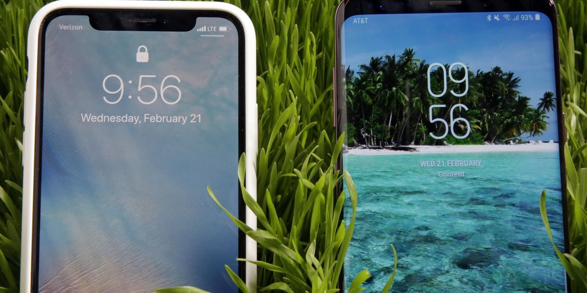 Samsung Galaxy S9 vs. Apple iPhone X
