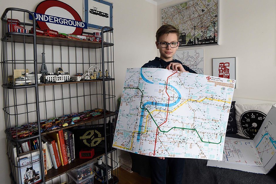 Czech schoolboy maps his life from disabled to designer