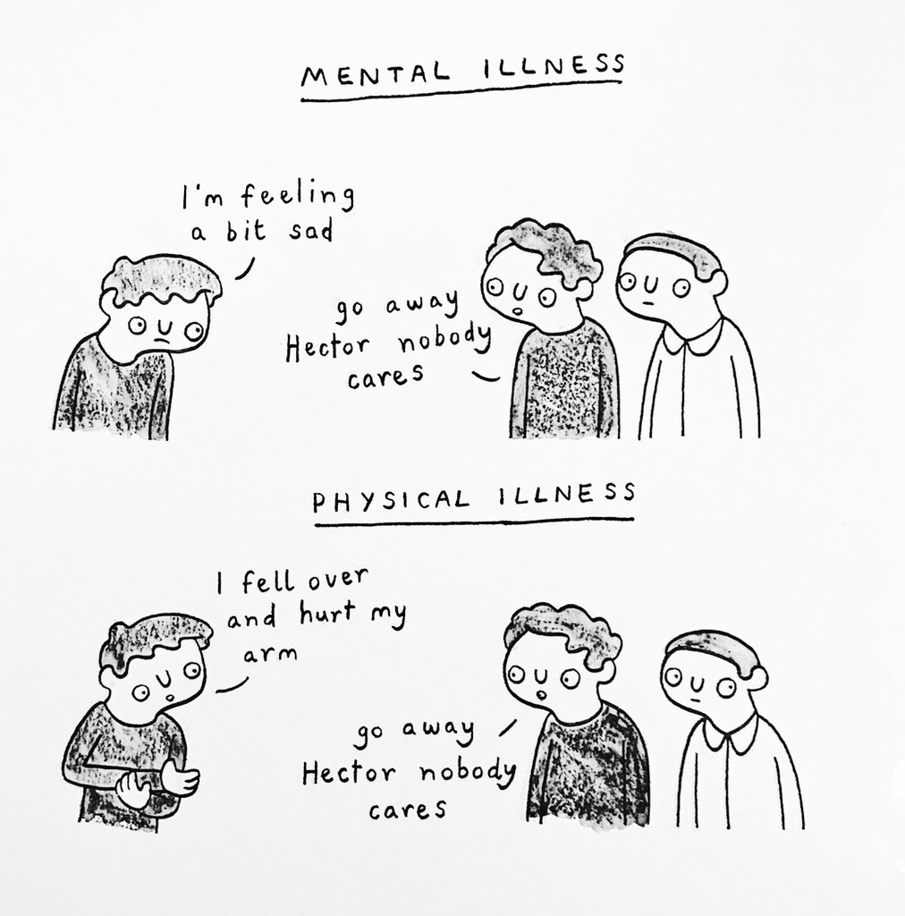 RT @SWatercolour: how people treat mental vs physical illness https://t.co/UU6iCqUFDY