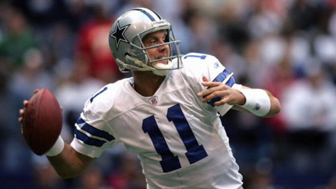 Happy 46th birthday to former Patriots, Bills, Cowboys QB Drew Bledsoe.  Passed for 44,611 in his career.