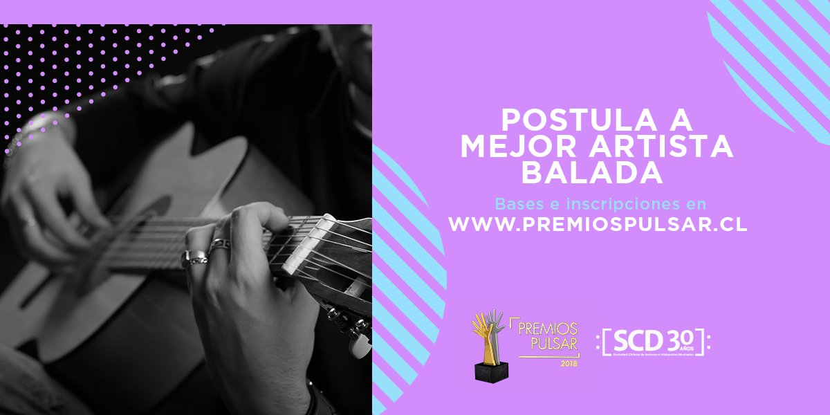 """test Twitter Media - Si tu inspiración es el amor y la balada romántica tu trabajo, postula a """"Mejor Artista Balada en #PremiosPulsar2018"""" 💘🎤  ¡Quedan pocos días! https://t.co/oYyyoQUxNn"""