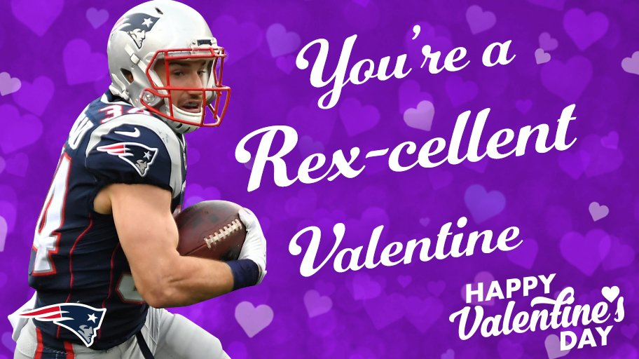 You're a Rex-cellent Valentine.   More #Patriots Valentines: https://t.co/0pANI19CD5 https://t.co/TZ7z1Sn3BQ