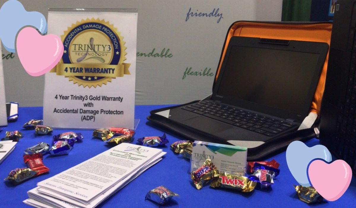 We are spreading the love this #ValentinesDay at #OTEC18 and #METC18! Come find us and say hi! #Trinity3 #Education #warranty @OhioEdTech @METCedplus https://t.co/S0RNHYccoY