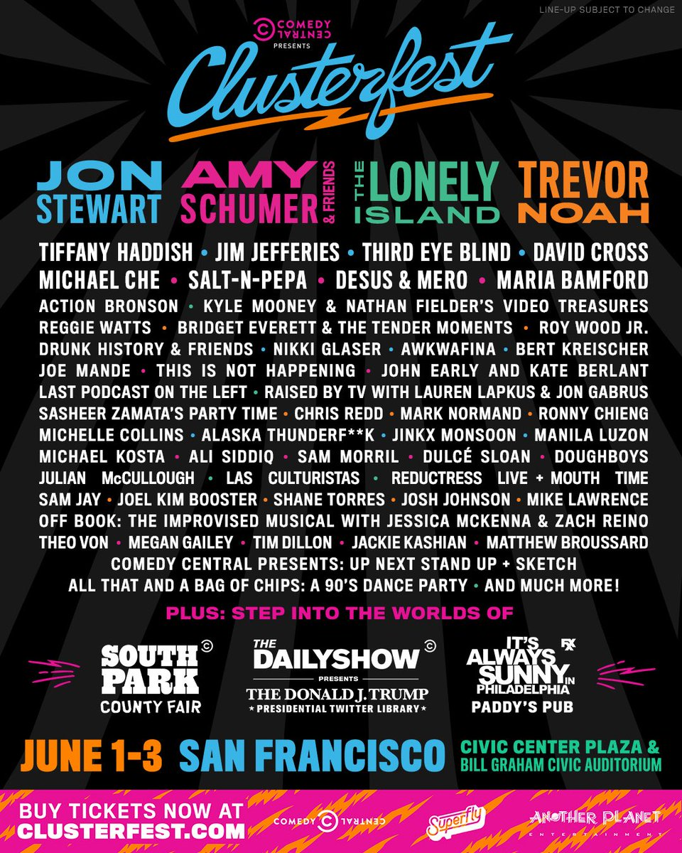 Get your tickets now for @clusterfest! https://t.co/YNJIdVUzpX