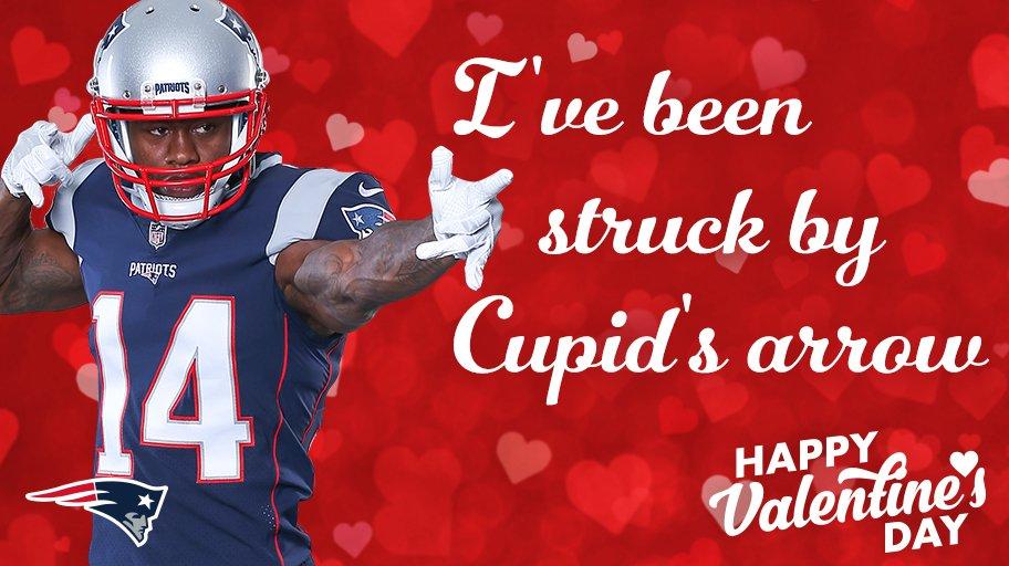Shoot your arrows. ��  More #Patriots Valentines: https://t.co/0pANI19CD5 https://t.co/LC6czgUB7E