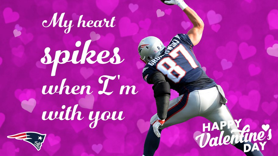 Gronk spikes = ♥️ spikes  More #Patriots Valentines: https://t.co/0pANI19CD5 https://t.co/IdcespXfsD