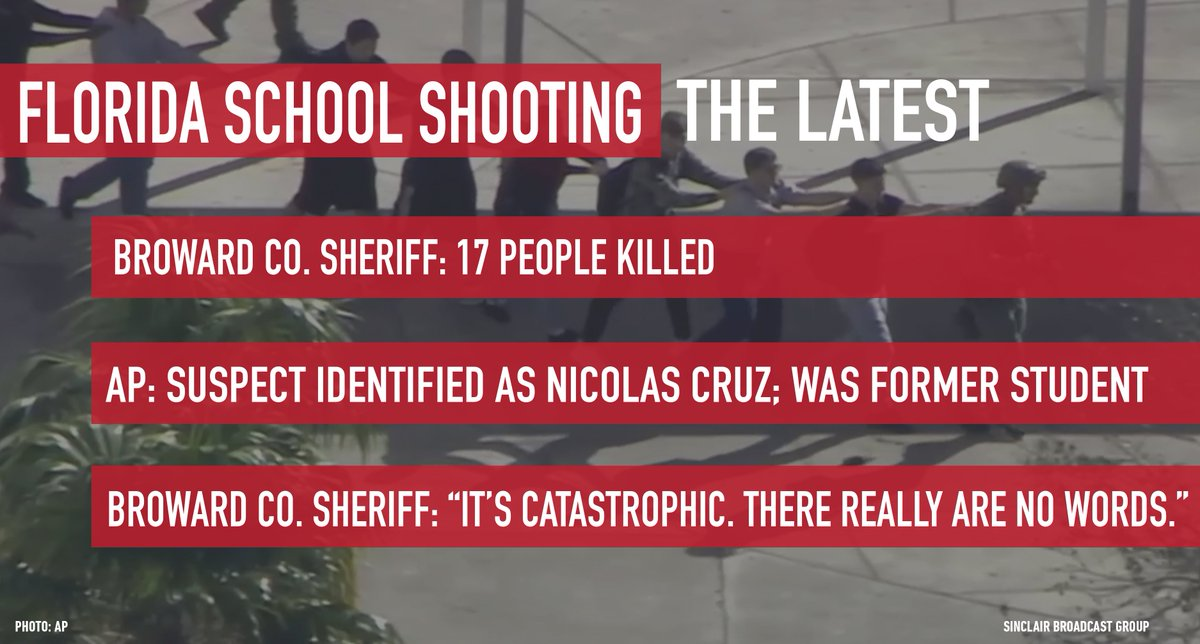 Sadly, here's the latest on the #StonemanDouglasHighSchool shooting in #Parkland #Florida --> https://t.co/ezgN1VgvPE