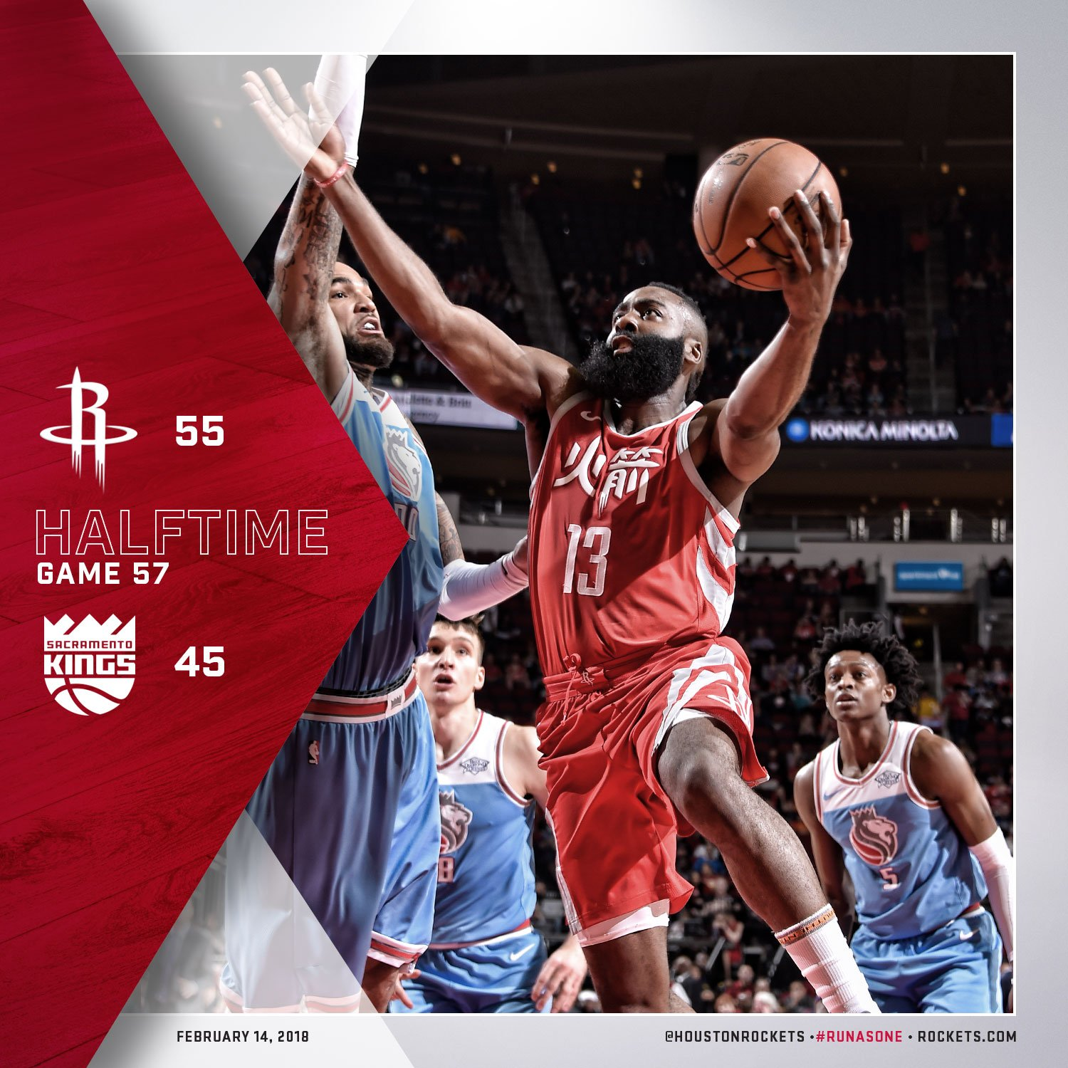 Halftime in Houston! #RunAsOne �� https://t.co/6nwmxs5fQu