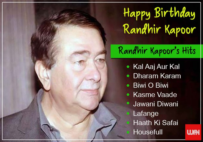 Wish you a very happy birthday Randhir Kapoor