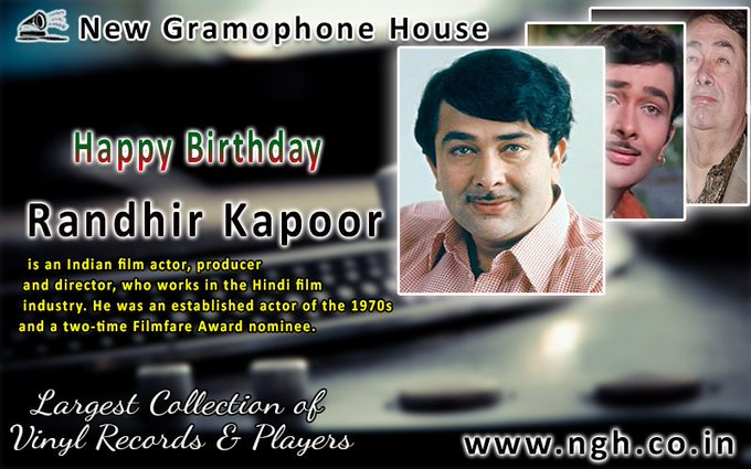 !!! Happy Birthday Randhir kapoor ji !!!