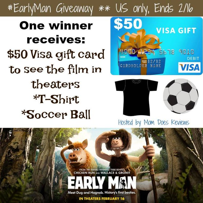 $50 Visa GC, T-Shirt & Soccer Ball from Early Man-1-US-Ends 2/16