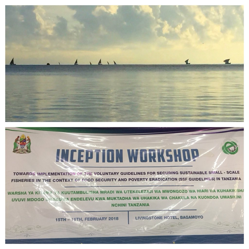 Very exited to be at inception workshop towards the implementation of the #SSFGuidelines in #Tanzania! https://t.co/inL5wRTuGr