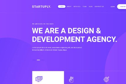 Startuply Agency Landing Page PSD_Templates freebies design SocialMedia