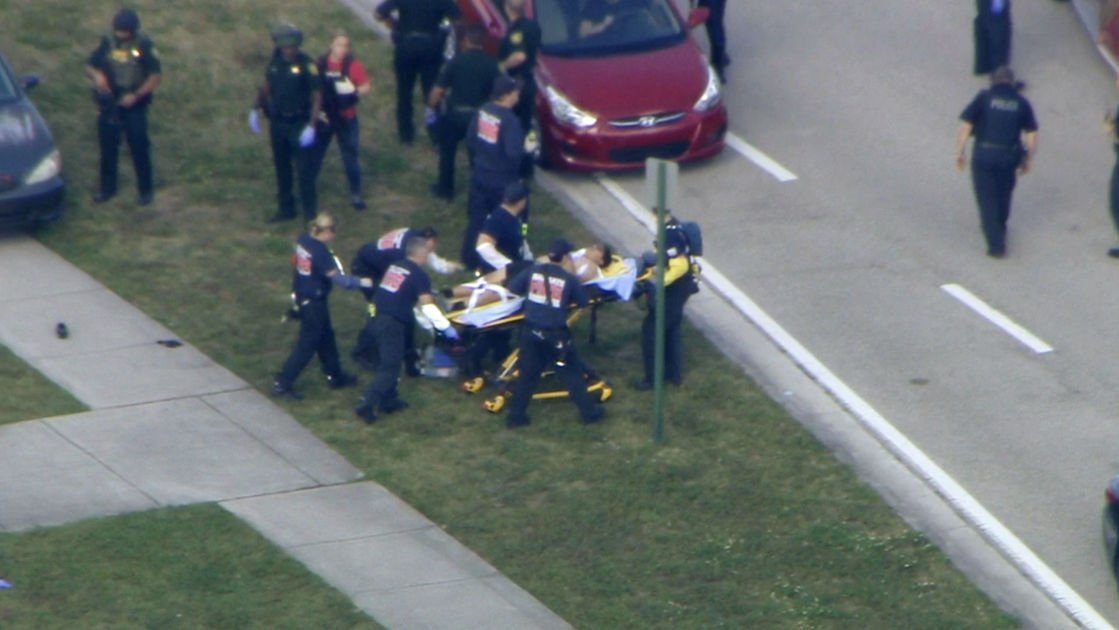 Florida high school shooter at large; multiple injuries reported
