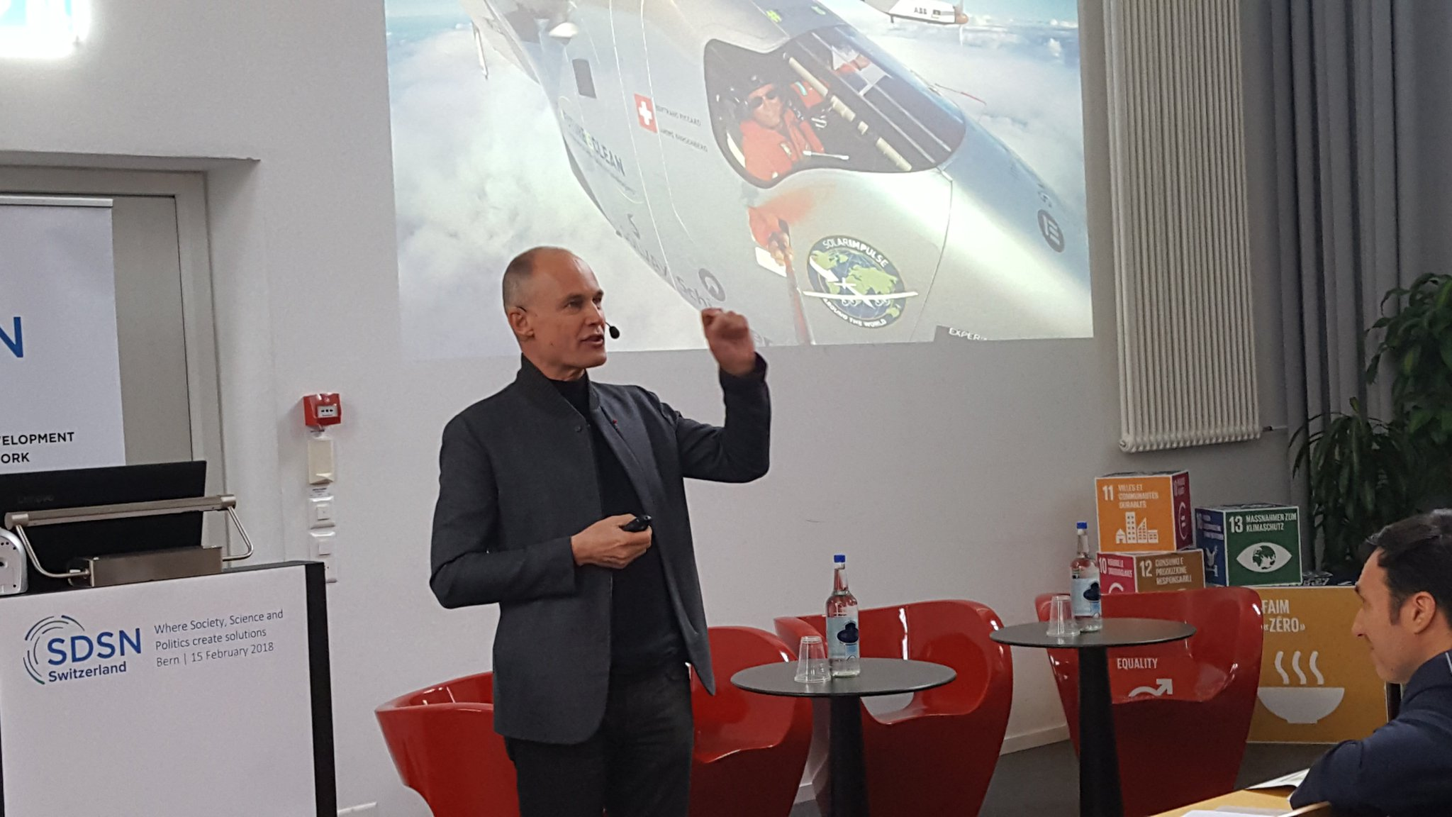 SSF congratulates @SDSNCH for their launch event with keynote from @bertrandpiccard #sdsnch https://t.co/E045lZexwk