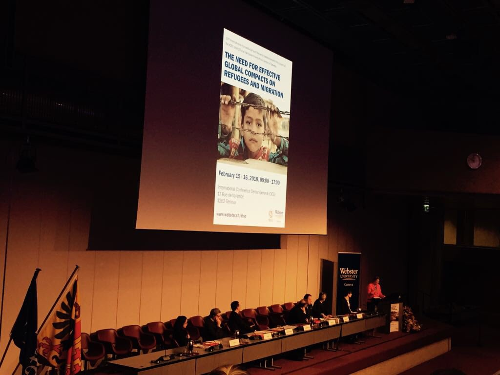 La AMI presente en 23rd International Humanitarian & Security Conference - The Need for Effective Global Compacts on Refugees and Migration, en Ginebra https://t.co/7IKhyImPnR