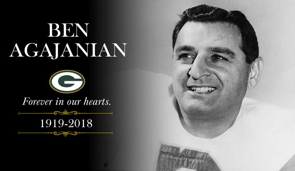 Remembering Ben Agajanian, who was the oldest living former Packer.   ��: https://t.co/4dM4inusJw https://t.co/Y6GMZtCGLm