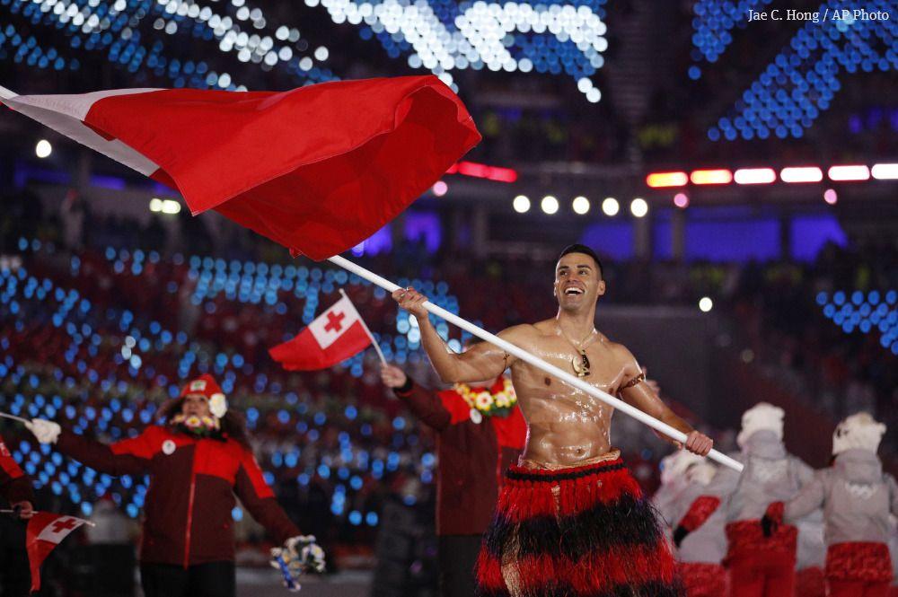 Shirtless Tongan's goal: Don't hit tree, finish and inspire