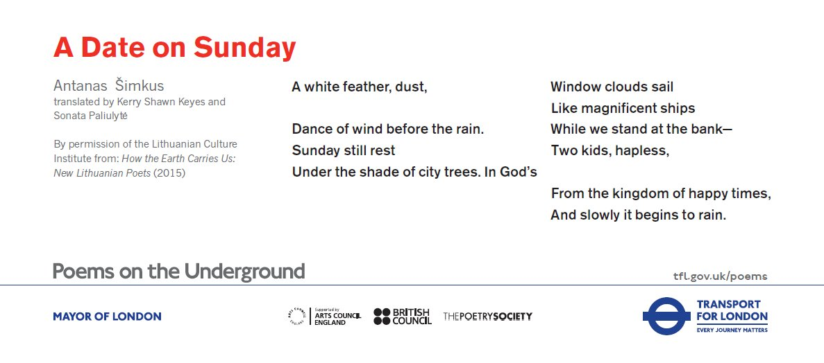 test Twitter Media - Happy Sunday - order your free set of poems on the underground now https://t.co/hrui258TP7 https://t.co/bz4IOro9vj