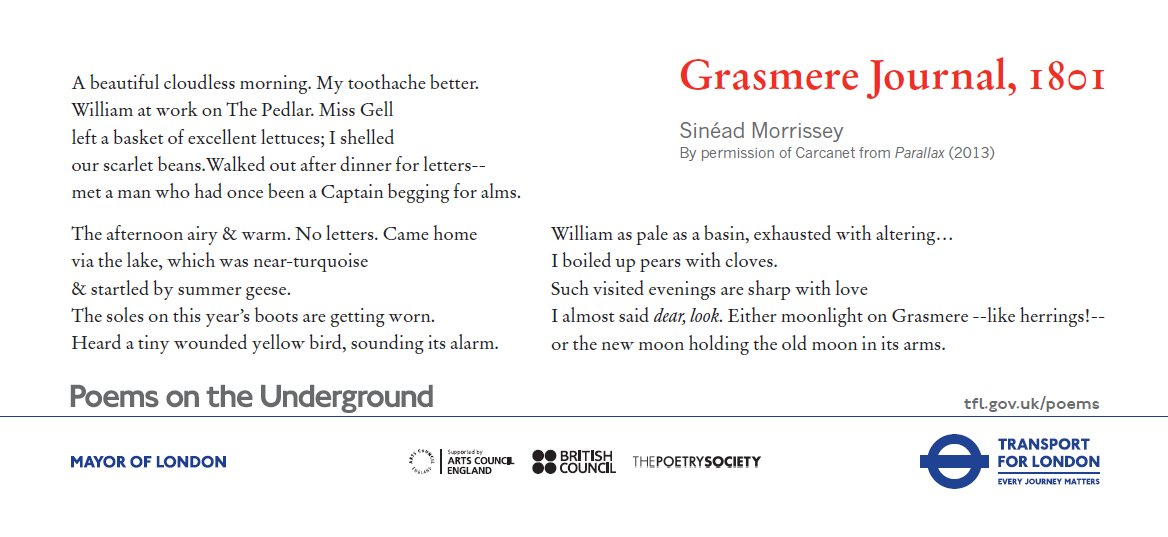 test Twitter Media - #FoyleYoungPoets judge Sinéad Morrissey is on the London underground with 'Grasmere Journal, 1801': order your free set now https://t.co/1L9vaGuK0w https://t.co/HERZcD7U3L