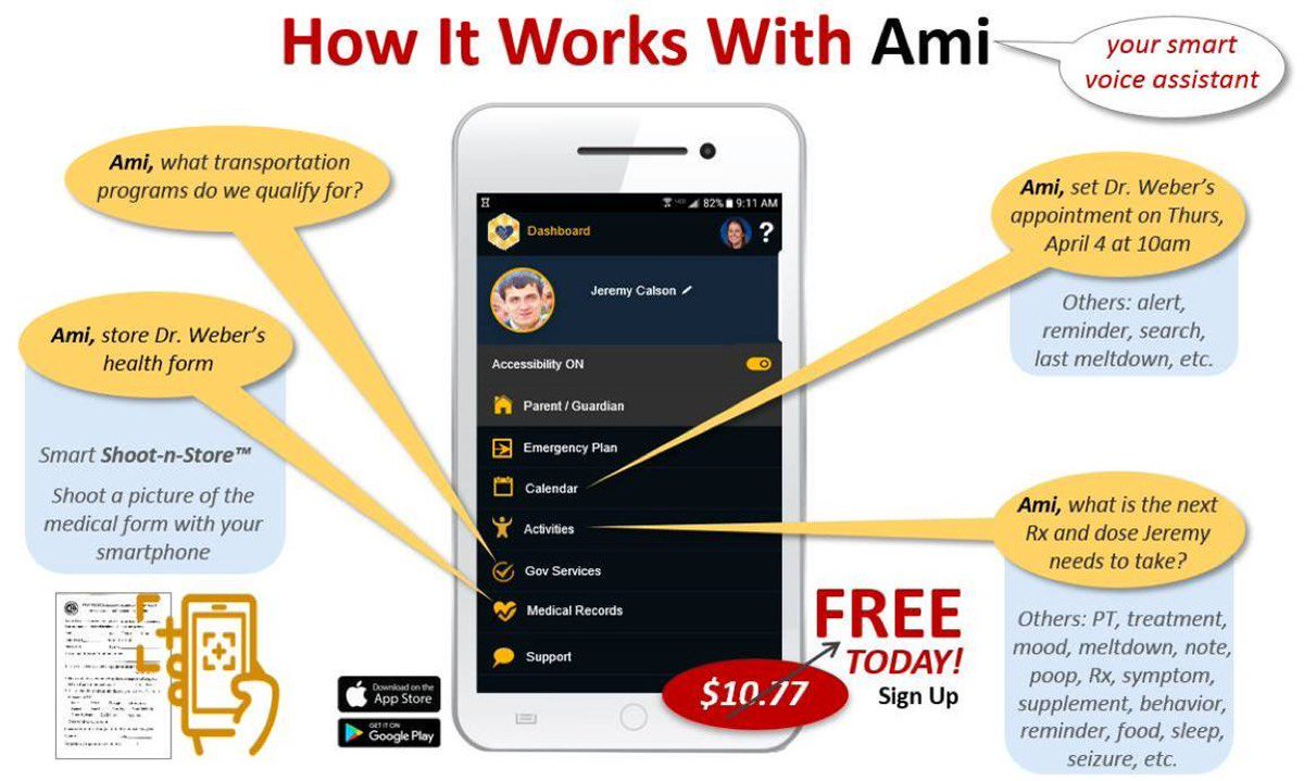 Act now and get the Smart I AM Organizer™ App for FREE! Easily organize vital healthcare information & plan calendar activities in one convenient, digital location. Text #iam to 512-470-3980 & we'll text you a voucher code & link to get the FREE app https://t.co/3wirA9fYuZ https://t.co/m2locbvagm