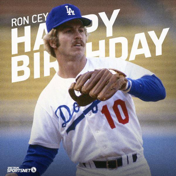 Join us in wishing Ron Cey a very happy birthday!