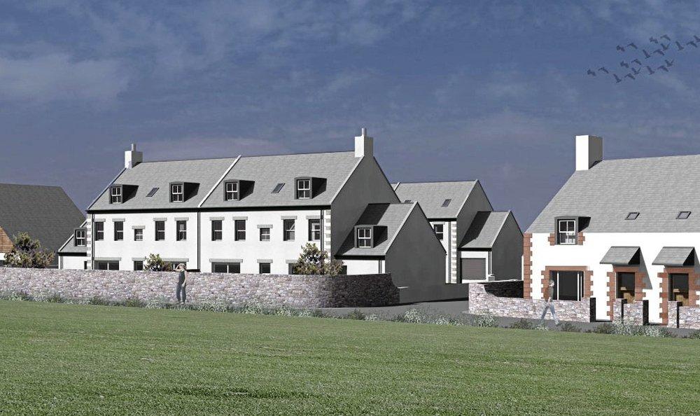 Four-home plan for ex-farm site