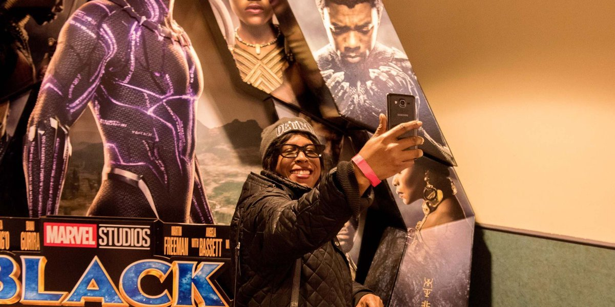 'Black Panther' fans at Thursday night opening