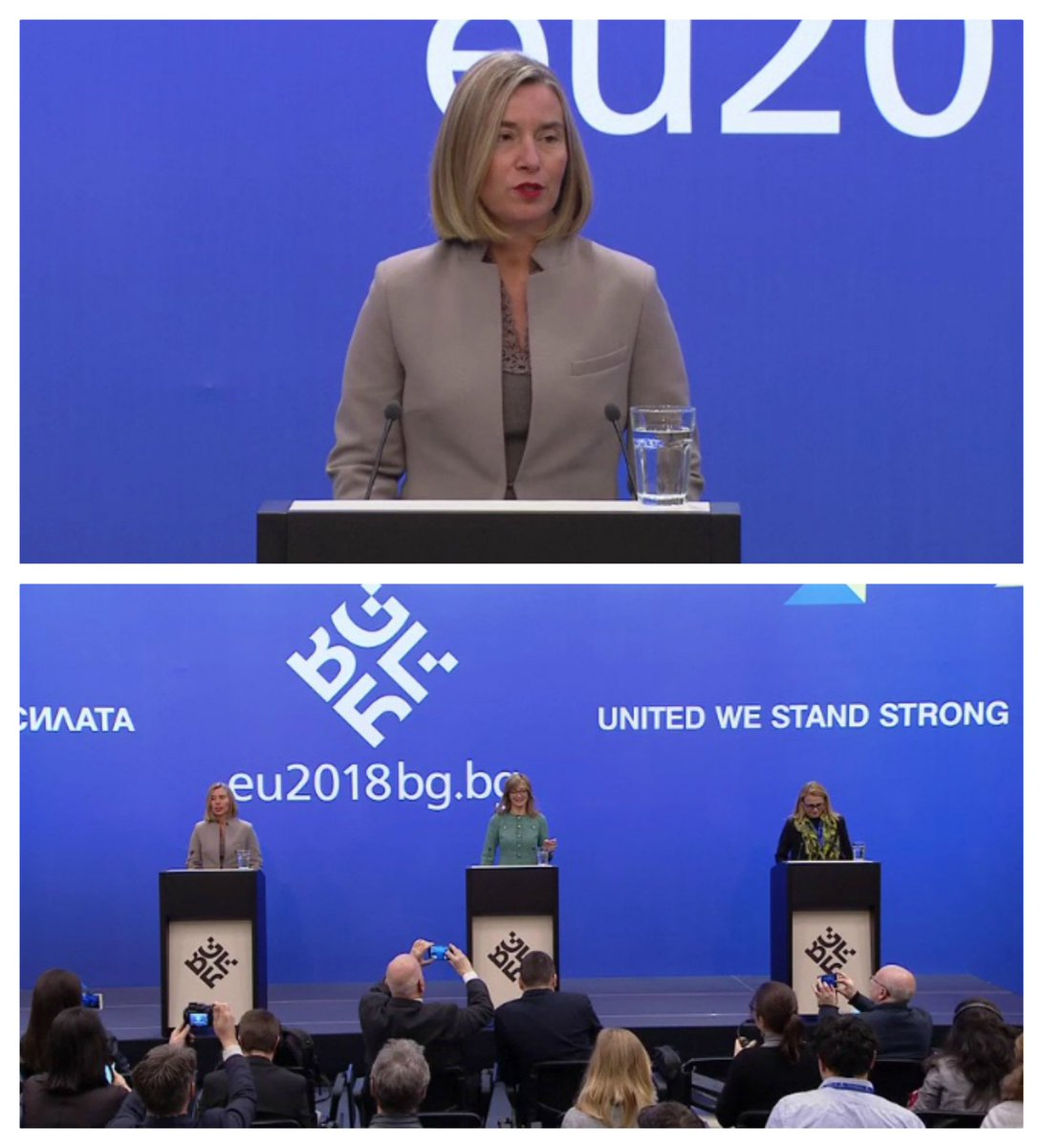test Twitter Media - Watch the opening remarks by HRVP @FedericaMog at the joint press point with @EZaharievaMFA following the #EU-Foreign Ministers Informal Meeting (#Gymnich) on #WesternBalkans, #Syria, #EUdefence, #DPRK📺➡️ https://t.co/B3TJKJvWKJ @JHahnEU @EU2018BG #EU2018BG https://t.co/dAOwG69fn0
