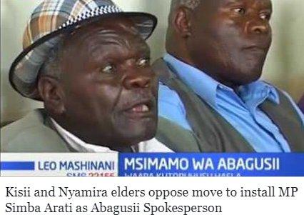 Kisii and Nyamira elders oppose move to install MP Simba Arati as Abagusii Spokesperson