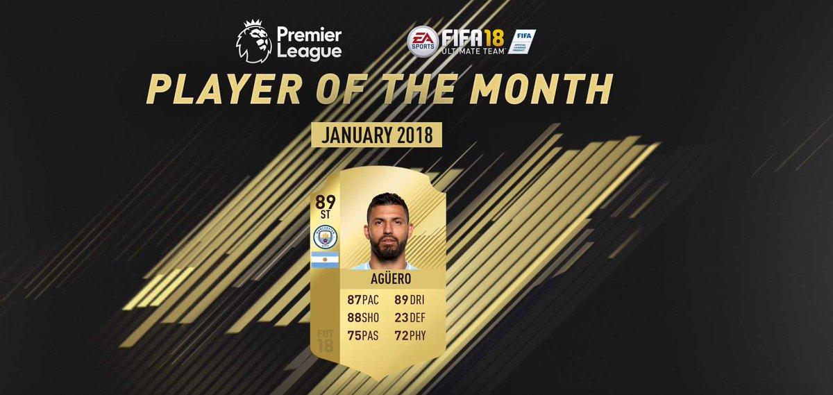 🇦🇷 Sergio Agüero is the January's Premier League #POTM! #FIFA18 https://t.co/hAM4keCvOa https://t.co/b9MbUWsjJ4