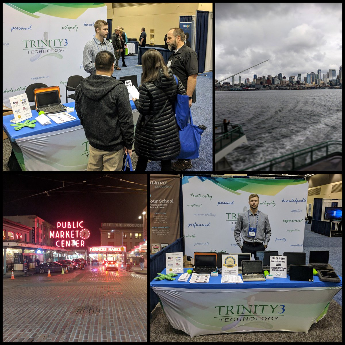 It's safe to say the team is having a blast at #NCCE18! Don't forget to see Blake at #Trintiy3 booth #330 and enter to win a #Lenovo N23 Yoga #Chromebook! @NCCE_EdTech #FridayFeeling https://t.co/JH8Y5yWDRs