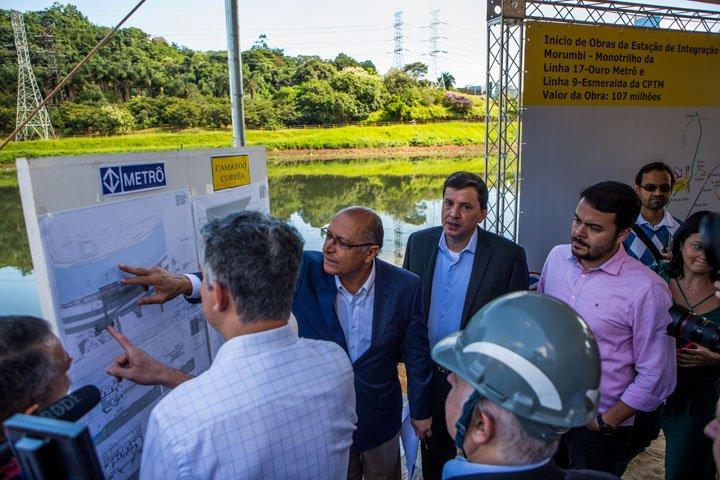 @BroadcastImagem: SP: Alckmin visita início de obras da Estação de Integração Morumbi – Monotrilho. Rafael Arbex /Estadão