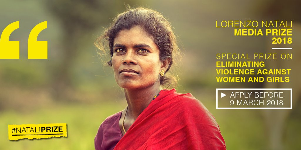 test Twitter Media - Ensuring women's and girls' wellbeing is crucial for the achievement of the Sustainable Development Goals. #NataliPrize 2018 dedicates a Special Prize to reports focused on eliminating violence against women and girls. Apply before 9 March: https://t.co/sdYlFfUvkb https://t.co/Njr0LsFhn6