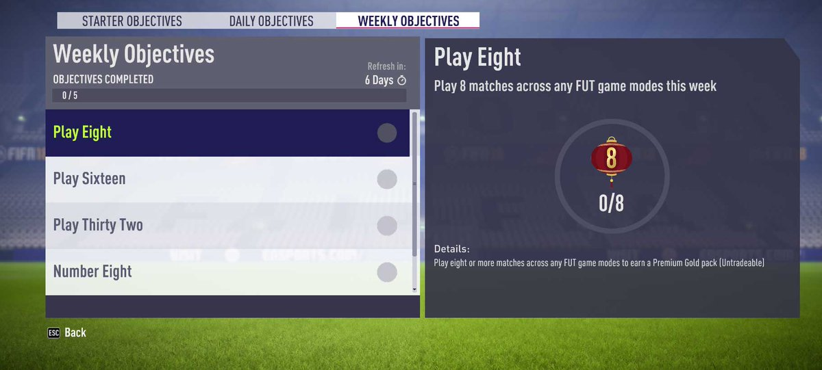 These are the #FIFA18 Weekly Objectives for this week: https://t.co/bkzzzyvmuE https://t.co/nHnC0RW1HW