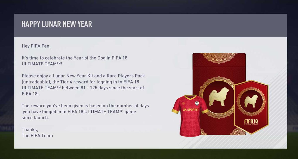 Many #FIFA18 #LunarNewYear offers are live, including four new SBCs. https://t.co/rLSLDD60GT https://t.co/lzikY6oOCP