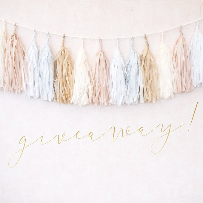Win this wedding paper garland on my Instagram Giveaway FreebieFriday
