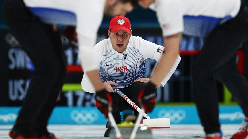 USA men's curling team defeats Denmark in round robin game