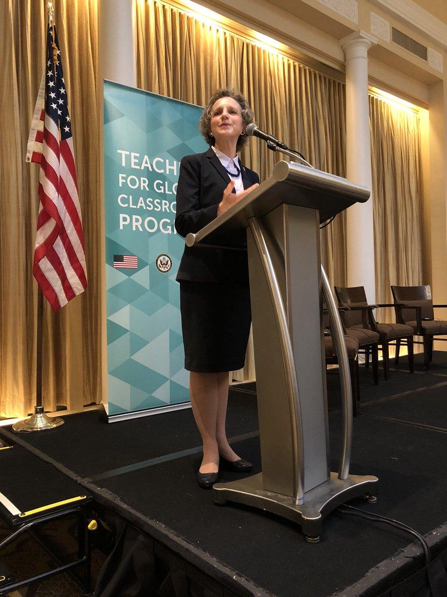 Enjoyed hearing Ambassador Galt speak this morning at the Global Education Symposium- Teachers for Global Classrooms #hornetsr2 https://t.co/BdkiEy0uzB