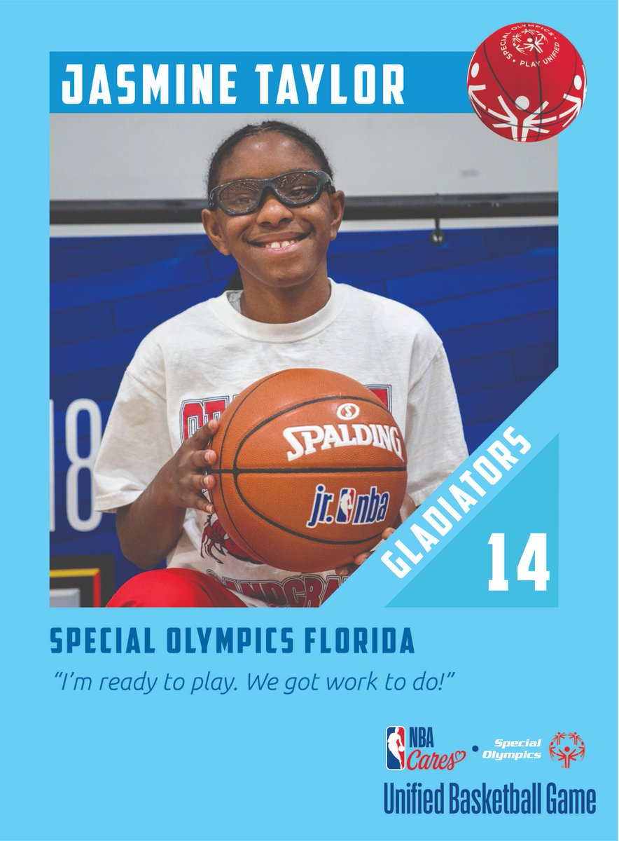 .@soflinfo's Jasmine Taylor & @SOArizona's Phillipo Howery will be competing at the #2018USAGames this July and in the 7th Annual @nbacares @specialolympics Unified Basketball Game for #NBAAllStar weekend!  Tune in tomorrow at 9:30am PT: https://t.co/swXk1dDo7m https://t.co/MqzfX7JV7P