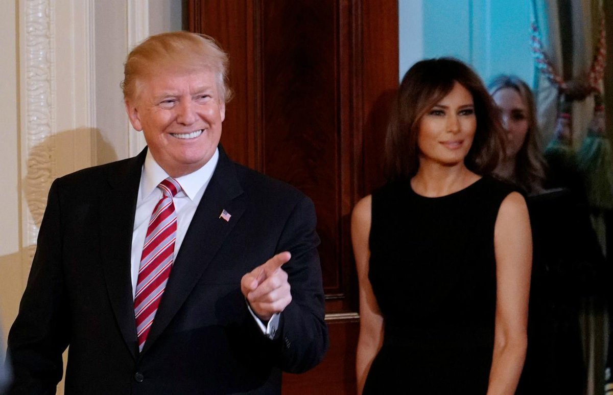 Melania Trump arrives solo to  melania trump
